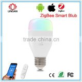 Android IOS APP Intelligent Home Led Rgb light Music playing 16 million colors Hue Wifi LED bulb