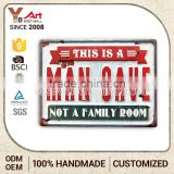 Wholesale Price Custom Printed Retro Decorative Metal Plate Tin Sign Indian Home Decor Items