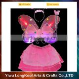 2016 New arrival hot sale princess fairy costume beautiful led wings for party decoration