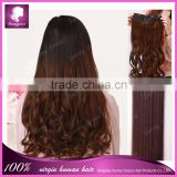 loose wave 5 clips 100g/set unprocessed clip in hair extensions for black women with full cuticle