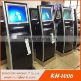 Touch Screen Inquiry Kiosk With Metal Keyboard/Interactive Kiosk With 80mm Thermal Printer
