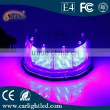 32 Led High Power Warning Light 16W 12V Round Shape Ambulance Car Light Red-Blue Waterproof Flashing Lamp
