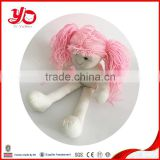 2015 Customized plush doll for baby , plush dolly with long hair for girl