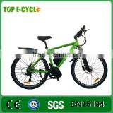 Aluminium Alloy Unique Design 7-Speed Gear CE Certificate 36V 250w 26 Inch Mid Drive Full Suspension Electric Bike