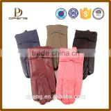 Wholesale custom WARM winter Warm Genuine Nappa Ladies Leather Gloves