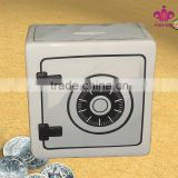 washing machine design ceramic bank digital coin counting money jar with decal