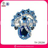Antique style resin rhinestone brooch Large Diamond Shape Silver Rhinestone Brooch for wedding invitation