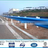 Blue painted Armco Highway Guard rail Fence