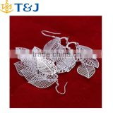 >>>> 925 sterling silver jewelry earring polish leaf drop jewelry earring wholesale and retail/