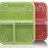 3PP separated with cover seal bento boxes outside to send fast food lunch box Microwave oven available boxes wholesale