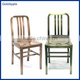 Home Furniture General Use Vintage Industrial stackable outdoor indoor metal dining chair