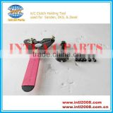 A/C Clutch Holding Tool &Three eye round clutch plate arbor for Sanden /DKS,/ZexelClutch Ford GM Chrysler Delphi Harrison