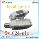 New boy brand new led 5w g24 2700k g24d-2 led g24/pl lamp
