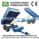 Agriculture Tractor Trailer with hydraulic power unit ATV dump trailer trucks and atv log trailer with crane
