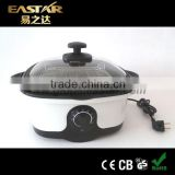 Eastar cooking 8 in 1 hot selling Multi-cooker Slow cook, fry, steam, roast, grill, braise, fondue, scallop any pot can be put