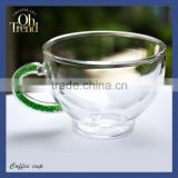 High quality tea cup logo printing second cup coffee mugs thermal coffee cup with green diamond shank unique style