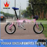 "New 14""alloy single speed china folding bicycle/ steel frame fold bike/cheap folding bike(ST-F1420S)"