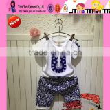 Import From China Fashion Short Sleeve + Short Pant Kids Fancy Clothes Baby Boy Summer Cotton Printed Clothes