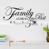 English Letters family is bridge to future Waterproof Vinyl Wall Decal/PVC Living room Home Decor Wall Stickers 034