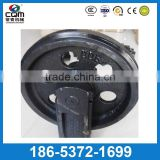Excavator undercarriage parts front idler roller / guide wheels for Hyundai R200