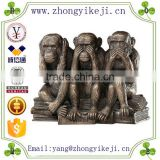 2015 chinese factory custom made handmade carved hot new product resin symbol year monkey statue
