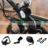 7 LED Rechargble Cycling Front Light 3 Modes 10500lm Headlamp with Lithium Battery Pack - US/EU Plug Camping Bike Accessories