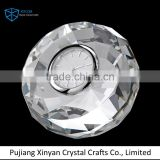 OEM round shape crystal clock for business gift