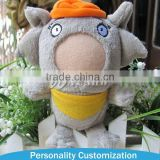 2015 New Arrive Good Quality 6-18cm interesting stuffed plush toy doll with plastic face