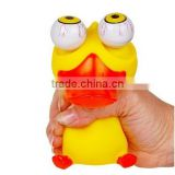 custom Soft Plastic Stress Reliever big eye Pop Out Eyes duck shape animal toys