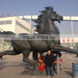 Hot sale new large antique horse statue metal animal sculptures
