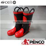 fire fight suits boot rubber ankle feet protection acid resistant oilproof waterproof shoe wearing