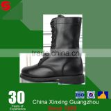 Military and army use goodyear welted grain leather with hook safety boots