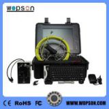 DVR function & text recording sewer pipe drain inspection camera with 5mm, 20-50 cable length