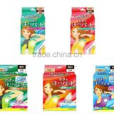 Japan underarm pads Ultra Thin, Strong Absorvency, Deodorant Effect, Cooling Effect, attractive package design wholesale