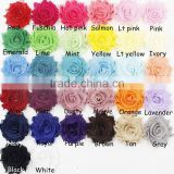 3cm aliepress selling Mini shabby Chiffon flowers child headband ring DIY headband hair ornaments