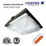 DLC premium 40W LED Garage Lighting fixtures with 90 min.  Emergency Backup,  100-277vac, 5 yrs warranty