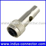 Equivalent to deutsch m12 b code female shielded moulding connector for sensor