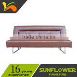 Hotel practical metal frame sofa bed traditional sofa bed faux leather