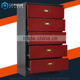 High Quality Metal Houseware Cabinet Kitchen Drawer Cabinet With Slide Channel