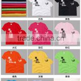 100% cotton t-shirt ,custom round neck t-shirt wiht heat transfer printing,sublimation shirt