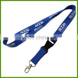 Provide free samples Custom polyester lanyard printed exhibition brand lanyards badge lanyards