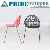 New Product Cheap Hotel Dinning Wedding PP Plastic Hollow Metal Price Steel Banquet Chair                                                                         Quality Choice