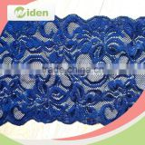 Knit or woven flower trim lace royal blue lace fabric stretch lace                                                                                                         Supplier's Choice