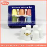 color gift box package bone china delicate white porcelain thimble set or ceramic hand ring jewelry holder