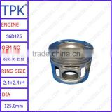6151-31-2112 6150-31-2012 used for Komatsu wheel loader WA450-1 WA470-1 engine parts piston