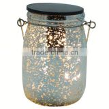 2016 Best selling glass electroplate and dot led solar mosaic sun glass bottle / jar lamp china suppliers manufacturers