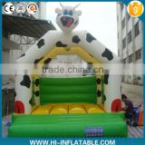 inflatable bouncer, inflatable jumper, inflatable bouncy castle with cow cartoon for kids