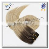 Wholesale top quality ombre silky straight hair weave 100% virgin human hair                                                                                                         Supplier's Choice