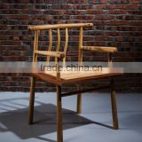 New design antique wood high back wooden dining chair with armrest high quality furniture