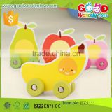 ASTM/EN71 Qualified Wooden Educational Fruit Cars Toys for Kids OEM/ODM Educational Wood Child Toys